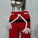 Santa's Pants Cutlery Holder pattern
