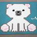 Polar Bear Cub Crochet C2C Blanket pattern