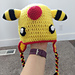 Electric Sheep Hat -- Inspired by Pokemon Ampharos pattern