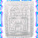 Princess Castle Washcloth pattern
