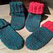 Newborn Baby Christmas Bootie Socks pattern