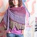 Pink Lotus shawl pattern