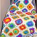 Retro Granny Afghan in White pattern