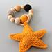 Starfish teething ring pattern