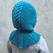 Cabled Hoodie Hat/Flettehettelue pattern