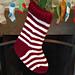 Jumbo Christmas Stocking in a Jiffy - Striped pattern