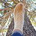 Angel Wings Heel Flap Socks pattern