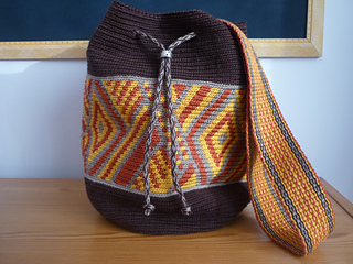 With plain weave strap
