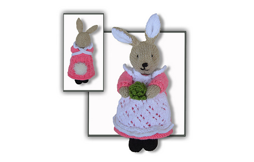 Flufftail knitted bunny rabbit