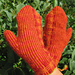 Ahi (Mittens, two-end knitted) pattern