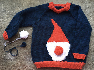 Knitted by mariagabriellamartins during Christmas Sweater 2019 KAL