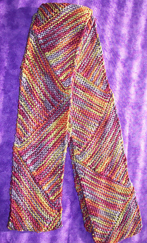 Ann Norling Pattern #69 Short Row Multi-Directional Scarf