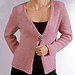 A-LINE CARDIGAN with EYELET TRIM pattern