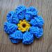 3D flower motif pattern