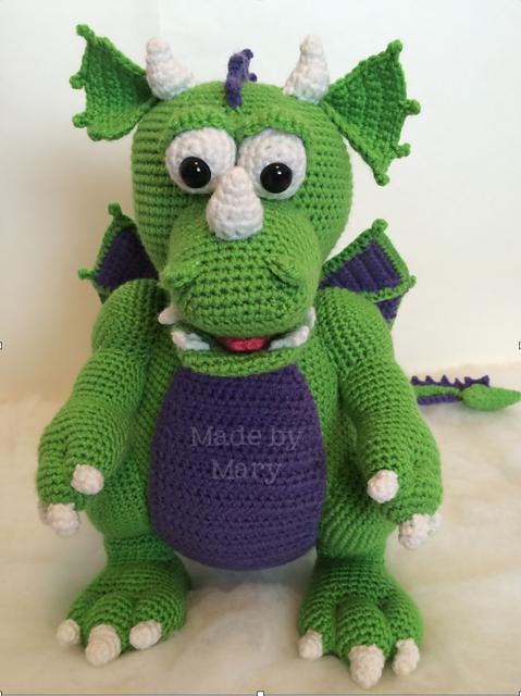 9 Crochet Dragon Patterns -Amigurumi Tips - A More Crafty Life | 640x479