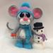 Mouse Amigurumi Building a Snowman pattern