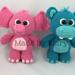 Baby Hippo and Elephant Amigurumi pattern