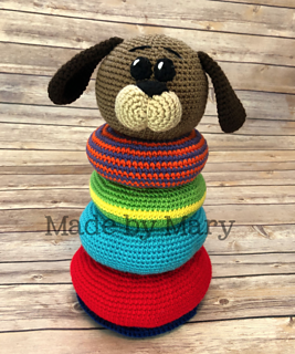 Pond Friends Stacking Toy - Free Crochet Pattern - (lionbrand ... | 320x267