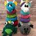 Ring Stacker Toy - Fantasy Animals pattern