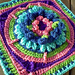 Water Lily Afghan Square pattern