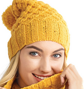 Knit from the brim up to perfectly frame your face.