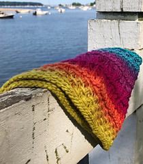 Uses one skein of Freia Ombre this cowl is perfect for gift giving and a soft and jovial reminder of the person who knit it.