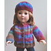 "18"" Doll Sweater & Hat pattern"