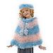 Cutie Pie Poncho & Hat to Crochet pattern