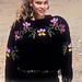 24-7 jumper with flower pattern border pattern