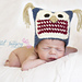 Baby Hoot Hat Crochet Version pattern