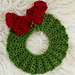 Christmas Wreath Hot Pad ~ Crochet Version pattern