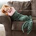 Mermaid Tail Blanket Knit pattern