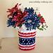 Patriotic Mason Jar Cozy ~ Crochet Version pattern