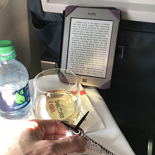 on the flight there