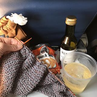 in-flight entertainment on my flight to New York