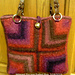Felted Crochet Mitered-Square Tote Bag pattern