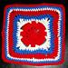 Batik Flower Granny Square pattern