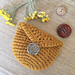 Coin Purse with Button pattern