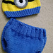 Minion Baby Hat & Diaper Cover Set pattern