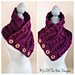 Twisted Button Up Bulky Cowl pattern