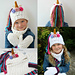 Unicorn Ponytail Hat Set pattern