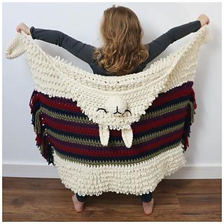 Alpaca my Llama Blanket pattern by MJ's Off The Hook Designs