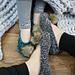 Velvet Ballet Pom Pom Slippers pattern