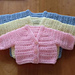 Basic Preemie Vneck Cardigan pattern