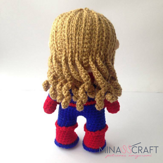Capitana Marvel Amigurumi Paso a Paso - YouTube | 320x320