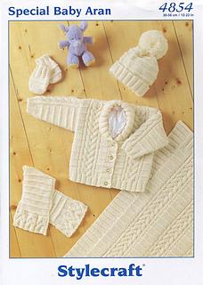 4175 Stylecraft Special Aran Knitting Pattern With 4 Kids Sweater Designs