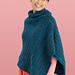 Cozy Cowl Neck Poncho #L10742 pattern