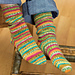 Self-Striping Knit Socks #LW1619 pattern