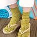 Bahama Mama Flip-Flop Socks pattern