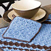 Diagonal Stitch Pot Holder pattern